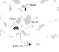 Combi Santorini Mykonos