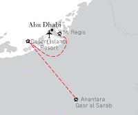 Combi Abu Dhabi Strand & Woestijn