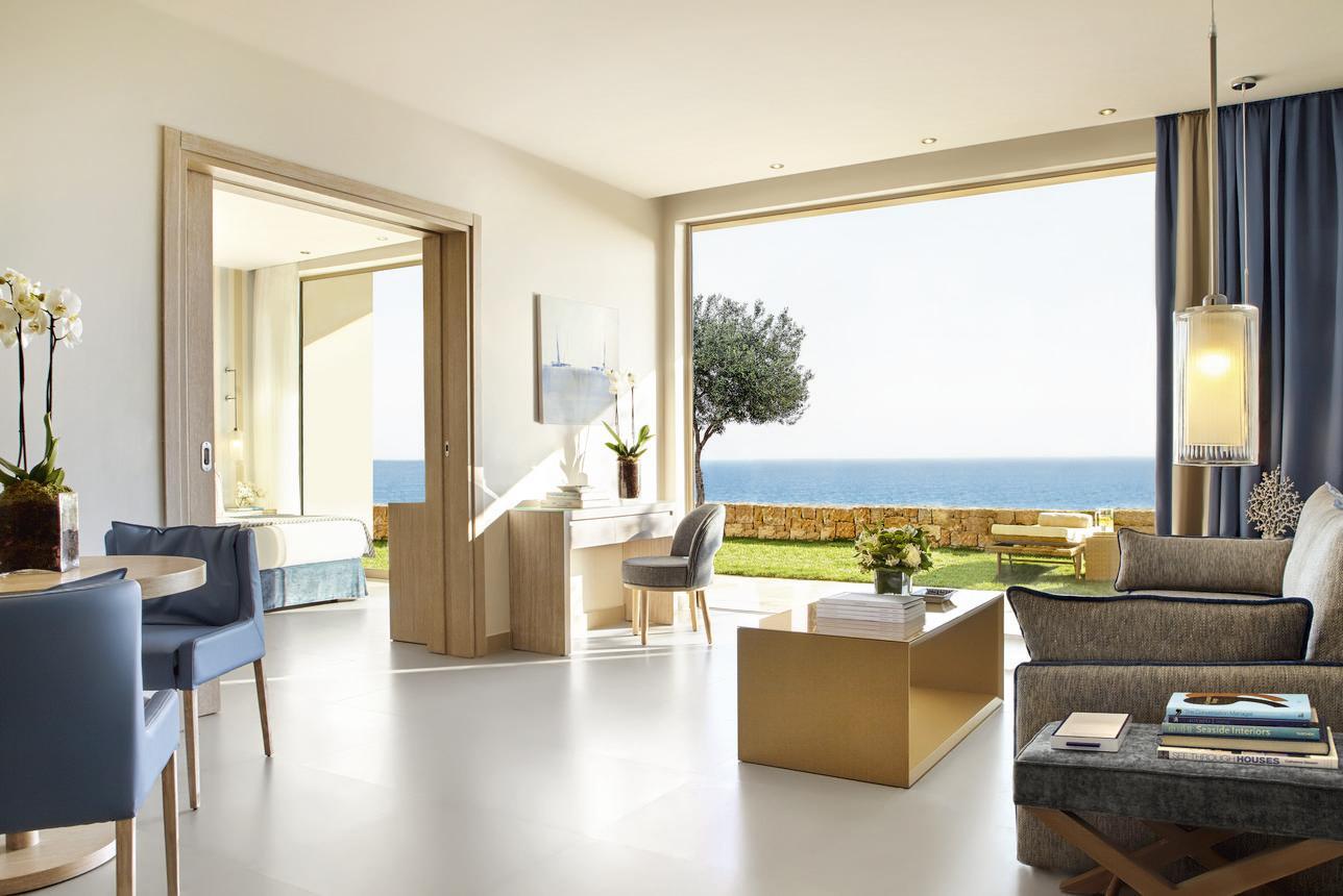 Deluxe Familie Suite 2 slaapkamers met tuin Zeezicht