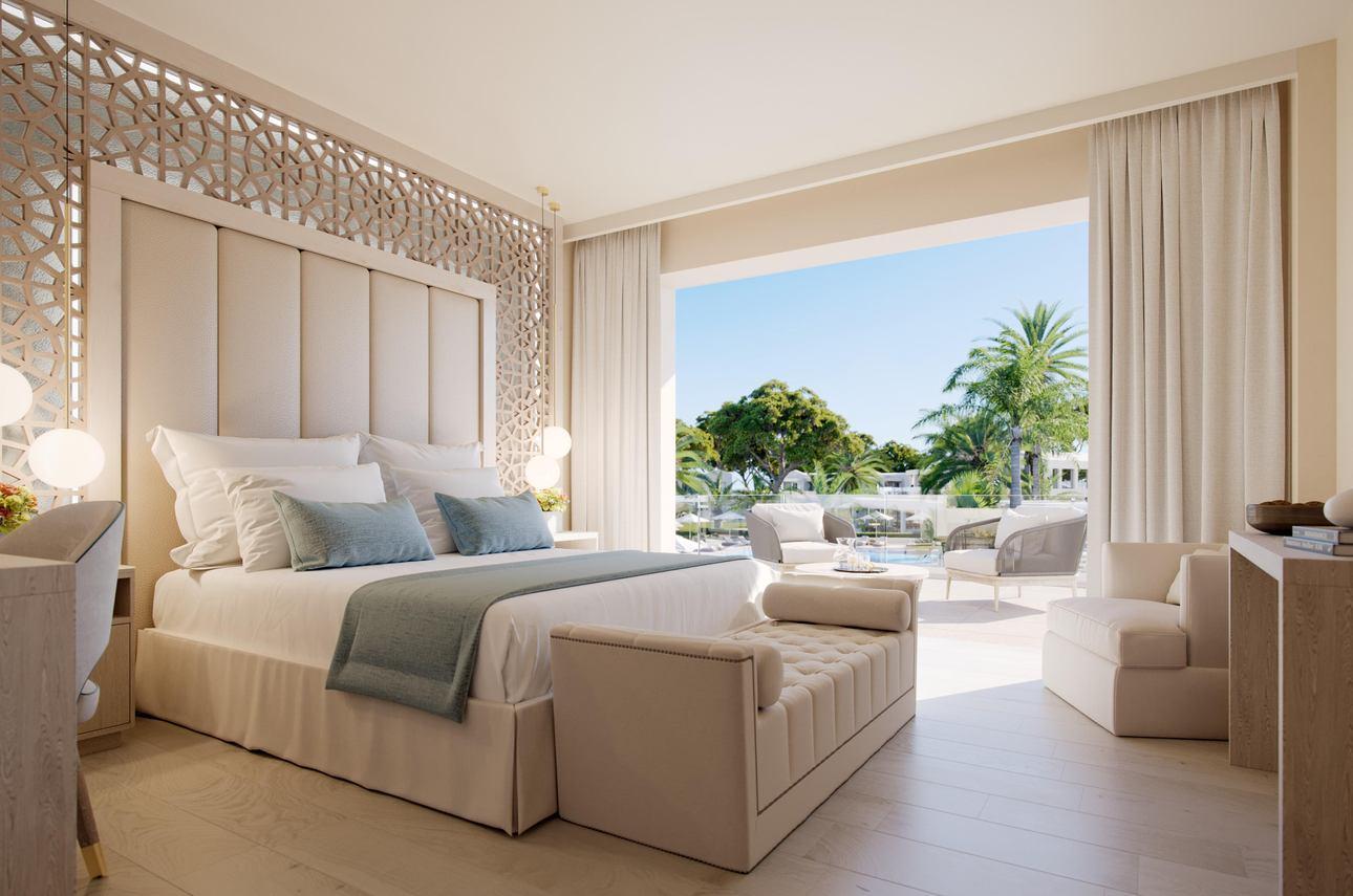 Grand Balcony Suite 1 slaapkamer Zwembadzicht