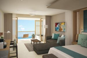 Preferred Club Junior Suite Frontaal Zeezicht met plungepool